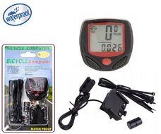 Велокомпьютер проводной BN-518, 15 функций, Water Proof (черный)