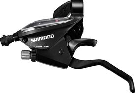 Рукоятка переключения передач, левая, ST-EF510-L, комбинированная, 3 ск., 22,2 мм, SHIMANO (черный, ASTEF5102LSBL, (SHIMANO logo))