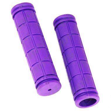 Рукоятки руля (грипсы, комплект), 120мм, резиновые, Joykie (фиолетовый) #0