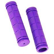 Рукоятки руля (грипсы, комплект), 120мм, резиновые, Joykie (фиолетовый)