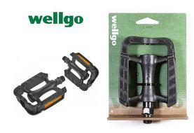 Комплект педалей, CITY, Wellgo, M-246DU, Пластиковые, 106x81x24мм (черный)