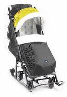 Санки-коляска детские Ника Детям 7-5 (черный/золотой)