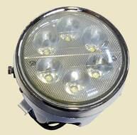 фара головного света в сборе DELTA, ALPHA (круглая хром) LED 6 лампочек светодиодная