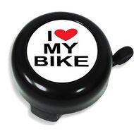"""Звонок велосипедный NUVO,  """"I Love My Bike"""", алюмин./пластик, D55 мм (черный)"""