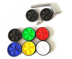 """Колесики поддерживающие, приставные, 12""""-18"""" в компл. с кронштейнами и крепежом, 120 мм (зеленый)"""