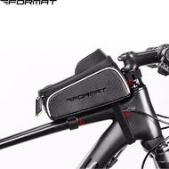 """Велосумка, """"FORMAT"""", крепление на раму, с отделением для смартфона, RB-017-1BK (черный/серый)"""