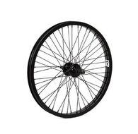 """Колесо в сборе 20"""" Переднее, BMX, Алюминиевый усиленный обод, 48 спиц,  втулка на гайках, цвет черный (УТ00018871)"""