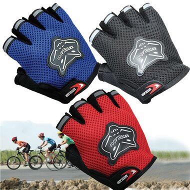 Велоперчатки KNIGHTOOD, кор.пальцы, биэластичные, лайкра, антискользящие (красный/черный, P-872) #0