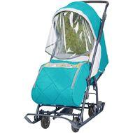Санки-коляска детские Ника Наши Детки 3 (бирюза)