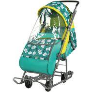 Санки-коляска детские Умка 3-1 (мишки изумруд)
