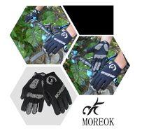 """Велоперчатки MOREOK, длинный палец, силиконовые вставки, биэластичные, лайкра, сенсор, на блистере, размер """"M"""", черный (FWDMOREOKBLK-M)"""