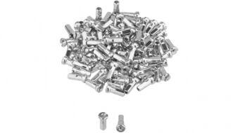 Ниппель для спицы 14G, стальной, 12 мм (упаковка 144 шт.) серебристый, УТ00020254