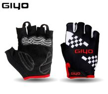 """Велоперчатки """"GIYO"""", короткие пальцы, гелевые вставки, биэластичные, силикон, лайкра, размер """"M"""" (черный, GIYOS03KP1-M)"""