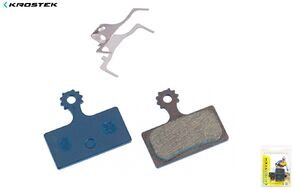 Тормозные колодки KROSTEK для дискового тормоза, mod. SHIMANO: XTR M985, XT M785, SLX M675, SLX M666, Deore M615, K-Force DB-XC-9000, блистер, RB-D24