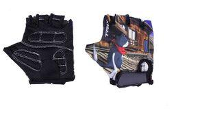 """Велоперчатки детские """"Кот"""" (синий/черный, FWD32568CAT)"""
