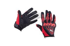 Перчатки AXE RACING, (L), полный палец, с защитой, сетка, лайкра