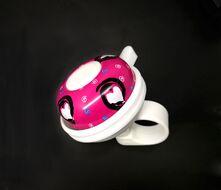 """Звонок велосипедный, """"Звонкое сердце"""", алюминий/пластик, D52 мм (розовый/белый, RB333SY00001)"""