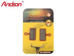 Тормозные колодки ANDSON для дискового тормоза (SHIMANO M666, BR-M985, XTR 2011, BR-M785 CALIPERS), блистер, K-3669
