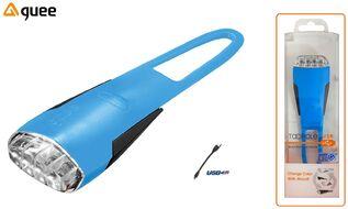 Фара передняя GUEE, TADPOLE, аккумуляторный, USB, 3,7V/260mAh, 4 Super LED Light, блистер (синий/черный, GU-SLA1-FA1-BE)