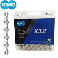"""Цепь KMC (X-12) 12 скор. (126 звеньев) 11/128"""", с замком, инд. упаковка (KMC-X12)"""