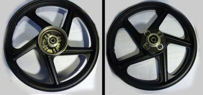диск колесный задний литой 18-1,85  (бараб. тормоз 130мм алюмин. литой) Racer RC150-23 Tiger