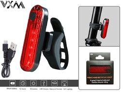 Фонарь задний VXM аккумуляторный 220 mAh, USB кабель, LED 50 Lumens, 4 реж. работы, влагозащищенный корпус, VXM-056, блистер (УТ00020918)