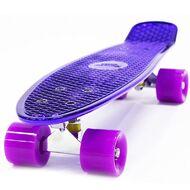"Скейтборд Hubster 22"", пластиковый, Abec-7,"" Design Metallic Purple (HubsterMetallicP)"