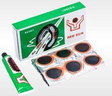 Аптечка велосипедная, заплатки, 36 шт., клей, RED SUN