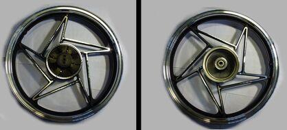 диск колесный задний литой 18-1,85  (бараб. тормоз 130мм алюмин. литой) SONIK