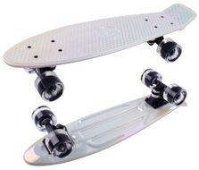 Скейтборд Metallic 22 white ударопрочный полипропилен (NN004180)