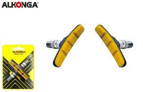 "Тормозные колодки ""ALHONGA"", V-Brake, 70 мм, блистер (Тайвань, черный/мультиколор, ALH_HJ-600.12T3G2)"