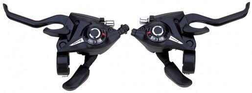 Рукоятка переключения передач, комплект (3+7 ск.), комбинированная, SUNRUN KD-80-7/3 (УТ00020424)