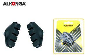 "Тормозные колодки ""ALHONGA"", V-Brake, 50 мм, BMX/Шоссе, блистер (Тайвань, черный, ALH HJ-450.11)"