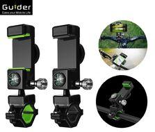 """Держатель для смартфона, 3.5""""-6.5"""", на руль, встроенный компас, 360°, GUDER"""