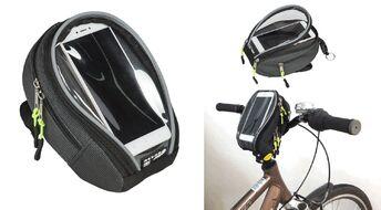 Велосумка COURSE, крепление на руль, с отделением для смартфона, влагозащищенная, нейлон, 19x12 см (вс035.019.1.0)