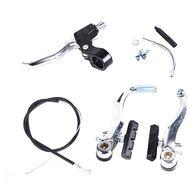 Тормоз, V-brake, задний, алюминиевый,  FWD, 110 мм, рычаги с тормозн. колодками 55 мм., в сборе с ручкой торм., тросик, оплетка