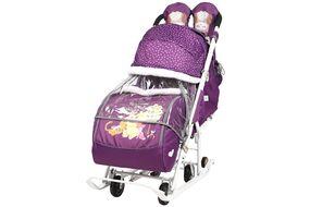 """Санки-коляска """"Disney baby 2"""" Винни баклажановый 1/2 DB2"""