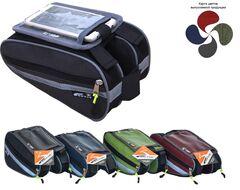Велосумка MASTER TWEEN крепление на раму, 2 отделения по 25х13х5 см, водонепроницаемая, с независимым карманом для смартфона, Neylon (вс040.025.1.1)
