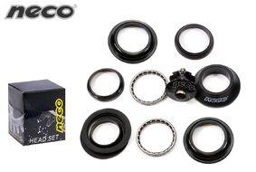 """Рулевая колонка NECO H115 безрезьбовая полуинтегрированная, комплект (размер: 1 1/8""""x44/50x30 мм), подшипники 5/32""""х22, с якорем,  инд.упак. (УТ00019907)"""