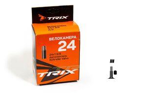 Камера 24x1 3/8 бутил, авто-ниппель, A/V TRIX (УТ00020754)