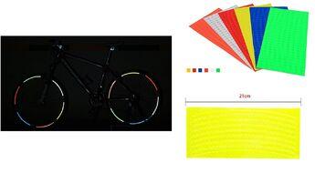 Наклейки световозвращающие на обод (к-кт на 2 колеса), 210х9,0 мм (желтый, УТ00019009)