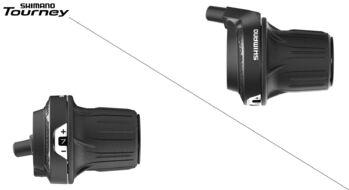Рукоятка переключения передач (Revoshift) правая, 7 скор., SL-RV200 SHIMANO TOURNEY, 22,2 мм (ASLRV2007RA)