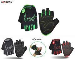 """Велоперчатки MOREOK, короткие пальцы, антискользящие вставки, биэластичные, лайкра, на блистере, размер """"M"""" (MOREOK02-M)"""