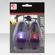 Комплект: фара передняя, фонарь задний (2 реж.раб.) (фиолет., JY-267-1A purple)