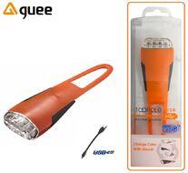 Фара передняя GUEE, TADPOLE, аккумуляторный, USB, 3,7V/260mAh, 4 Super LED Light, блистер (оранжевый/черный, GU-SLA1-FA1-OG)