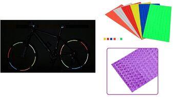 Наклейки световозвращающие на обод (к-кт на 2 колеса), 210х9,0 мм (фиолетовый, УТ00019012)