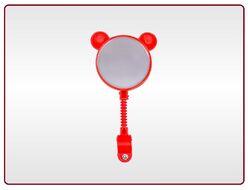 Зеркало заднего вида, детское, Мишка, гибкая стойка, пластик, KIDS, цвет - красный