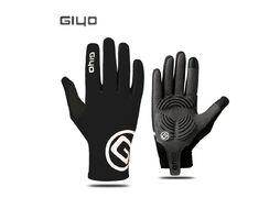 """Велоперчатки GIYO, длинный палец, гелевые вставки, биэластичные, силикон, лайкра, размер """"M"""""""
