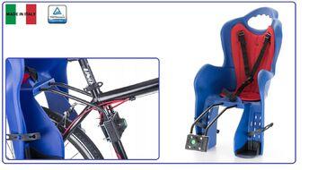 Кресло детское быстросъемное ELIBAS-T, крепление заднее, дугой на раму, нагрузка 22 кг, HTP, Италия (синий, УТ00019392)
