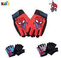 """Велоперчатки детские """"Spider Man"""", антискользящие, """"SPORT"""", BOY (SPGLOVESPMAN1)"""